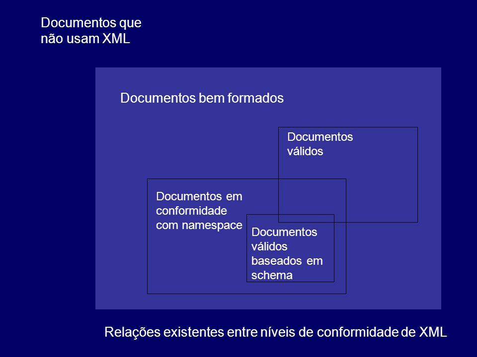 Documentos que não usam XML