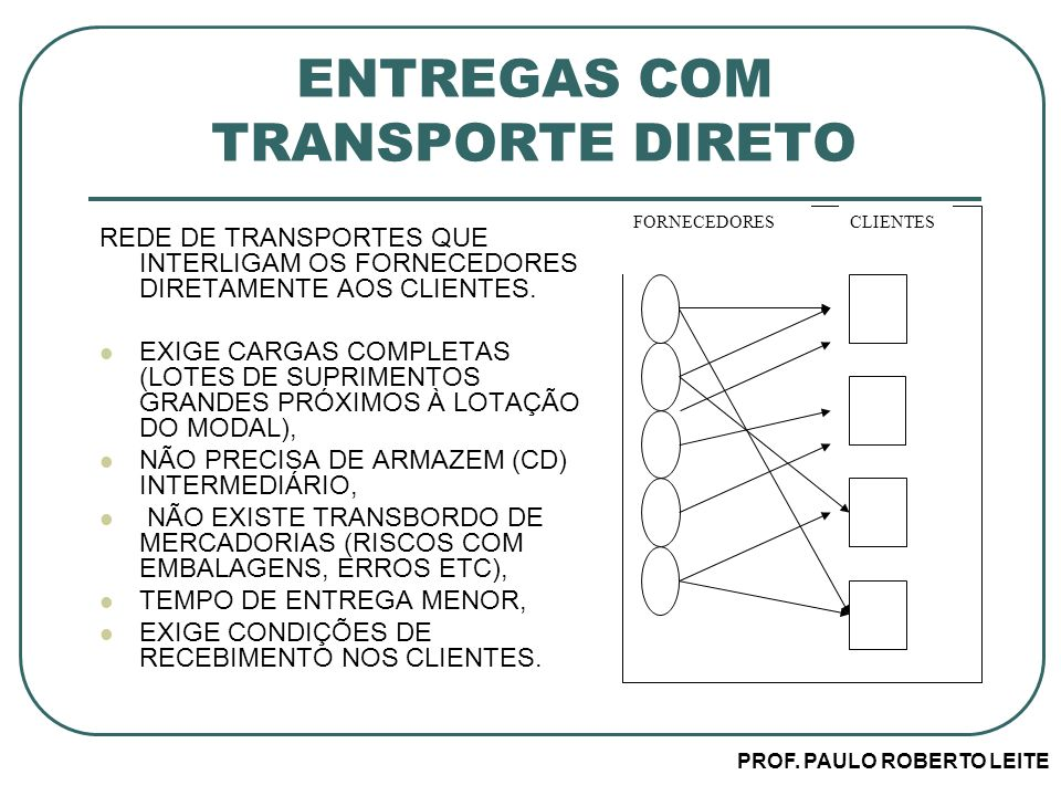 ENTREGAS COM TRANSPORTE DIRETO