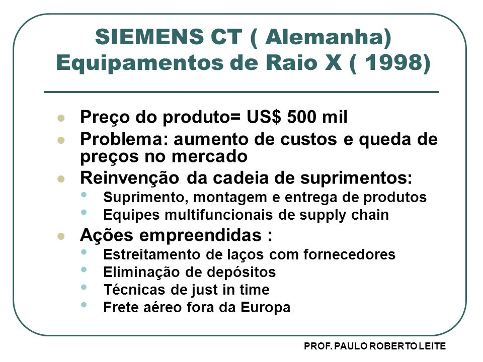 SIEMENS CT ( Alemanha) Equipamentos de Raio X ( 1998)