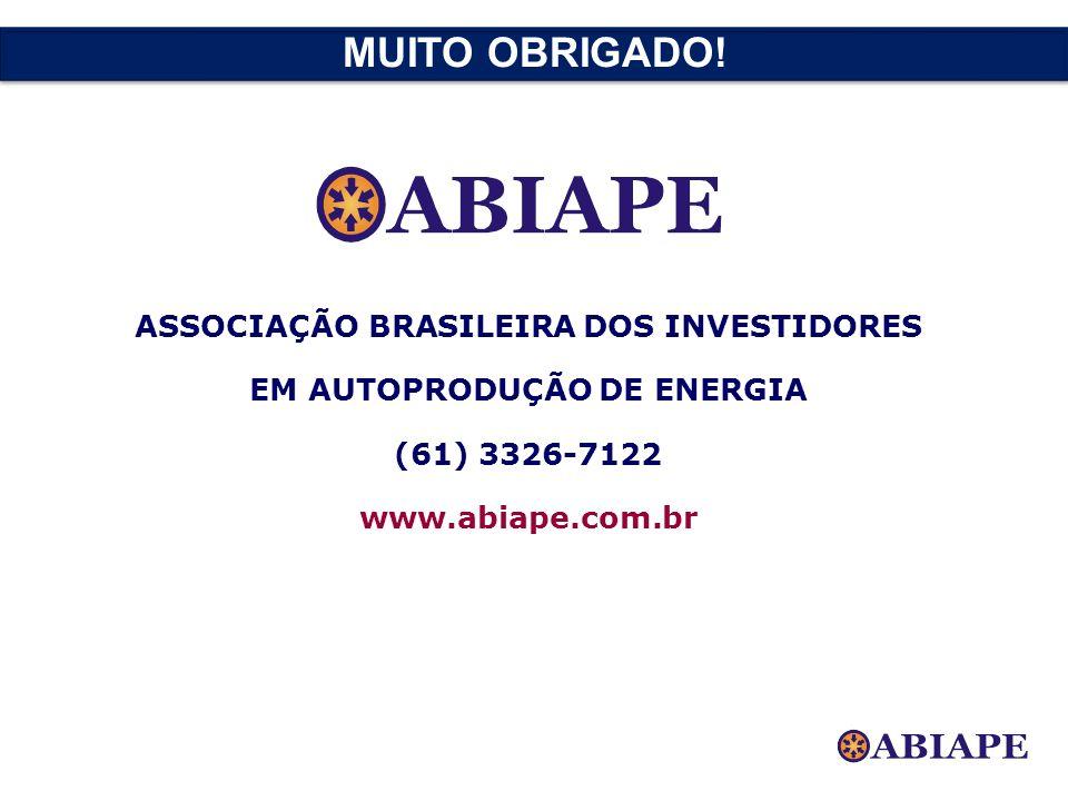 ASSOCIAÇÃO BRASILEIRA DOS INVESTIDORES EM AUTOPRODUÇÃO DE ENERGIA