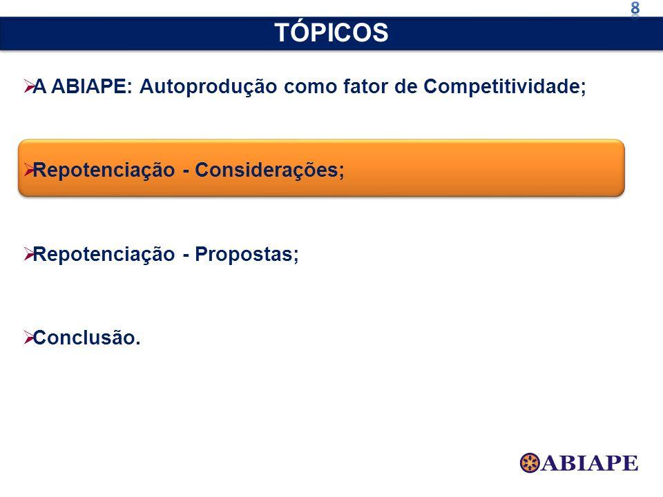 TÓPICOS A ABIAPE: Autoprodução como fator de Competitividade;