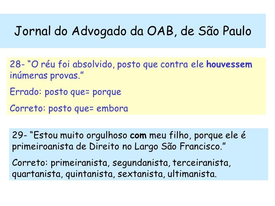 Jornal do Advogado da OAB, de São Paulo