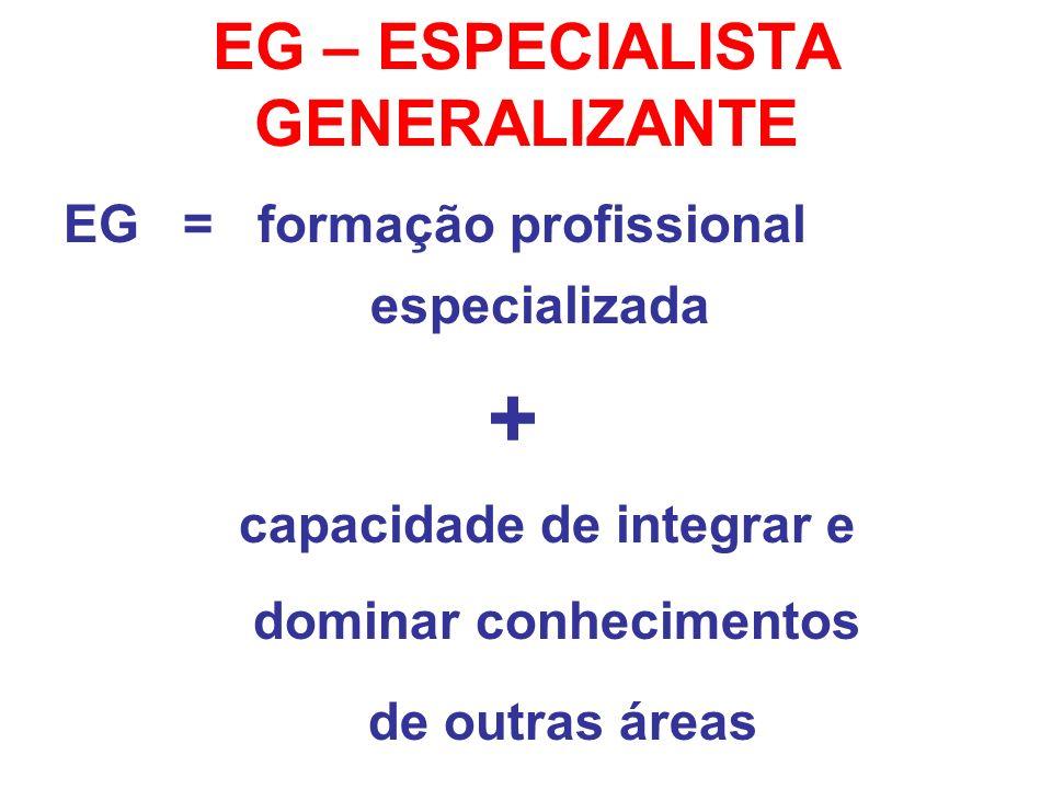 EG – ESPECIALISTA GENERALIZANTE