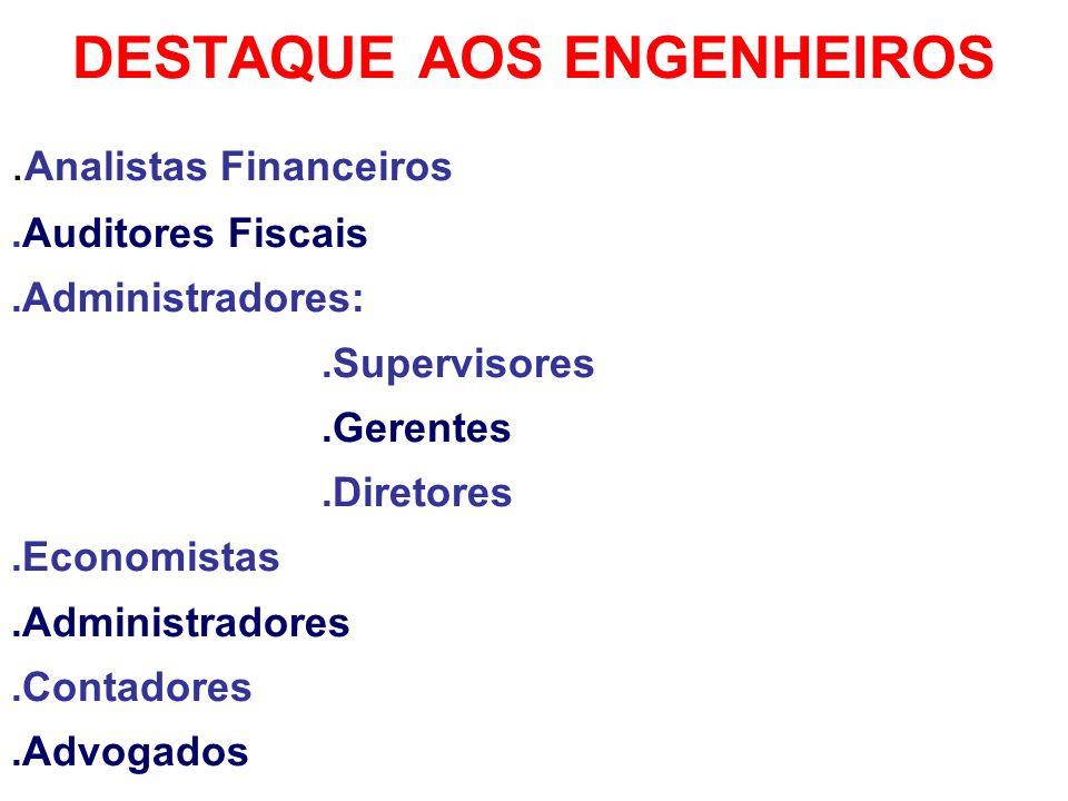DESTAQUE AOS ENGENHEIROS