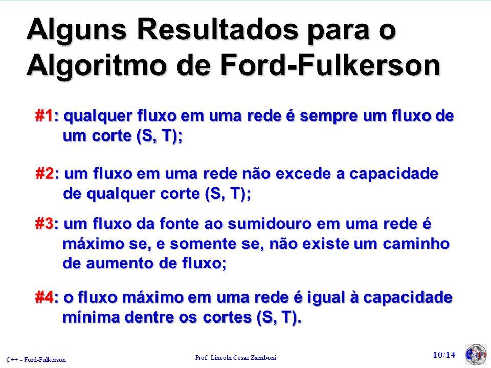 Alguns Resultados para o Algoritmo de Ford-Fulkerson