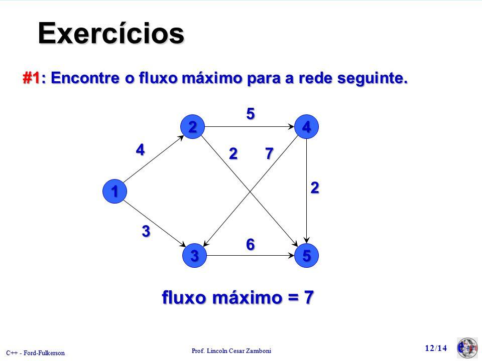 Exercícios fluxo máximo = 7