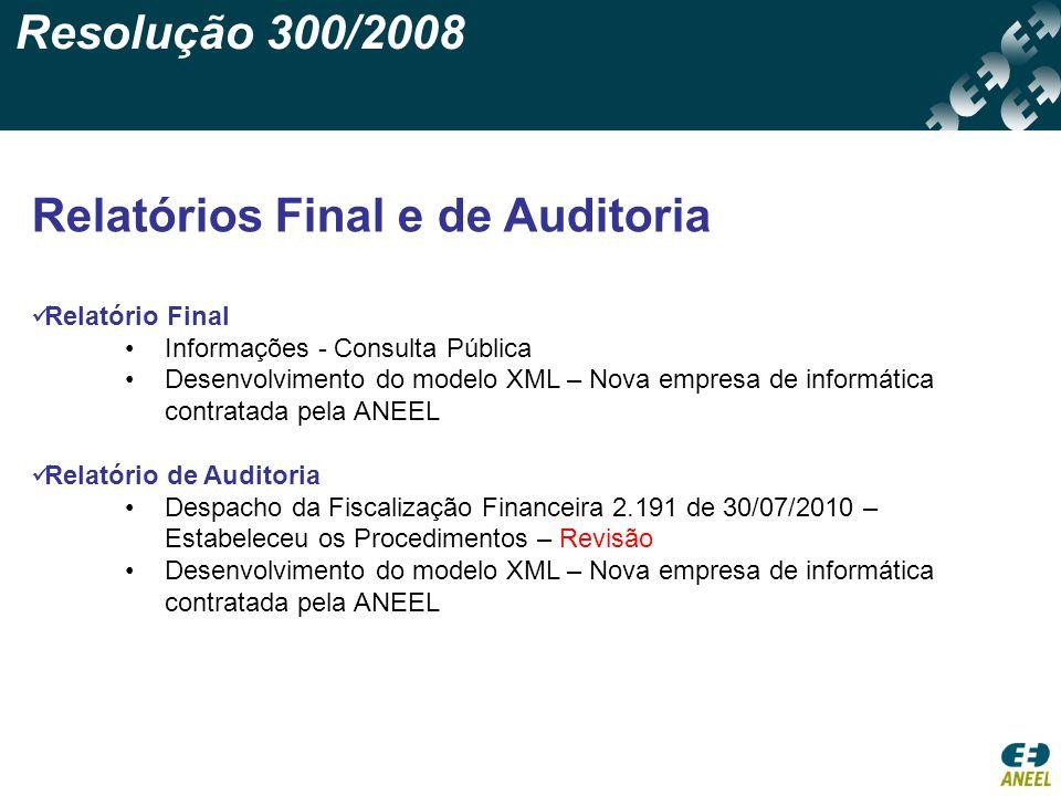 Relatórios Final e de Auditoria