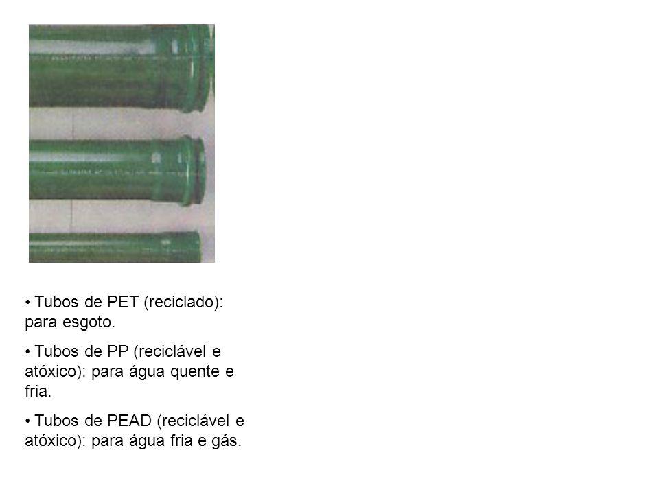 Tubos de PET (reciclado): para esgoto.