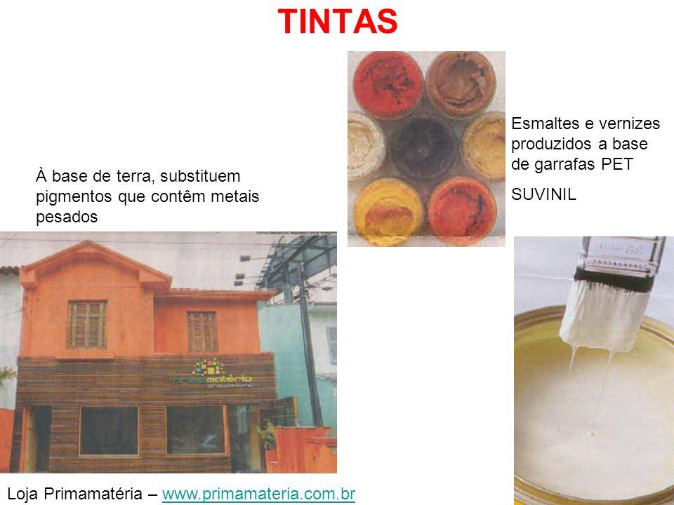 TINTAS Esmaltes e vernizes produzidos a base de garrafas PET SUVINIL