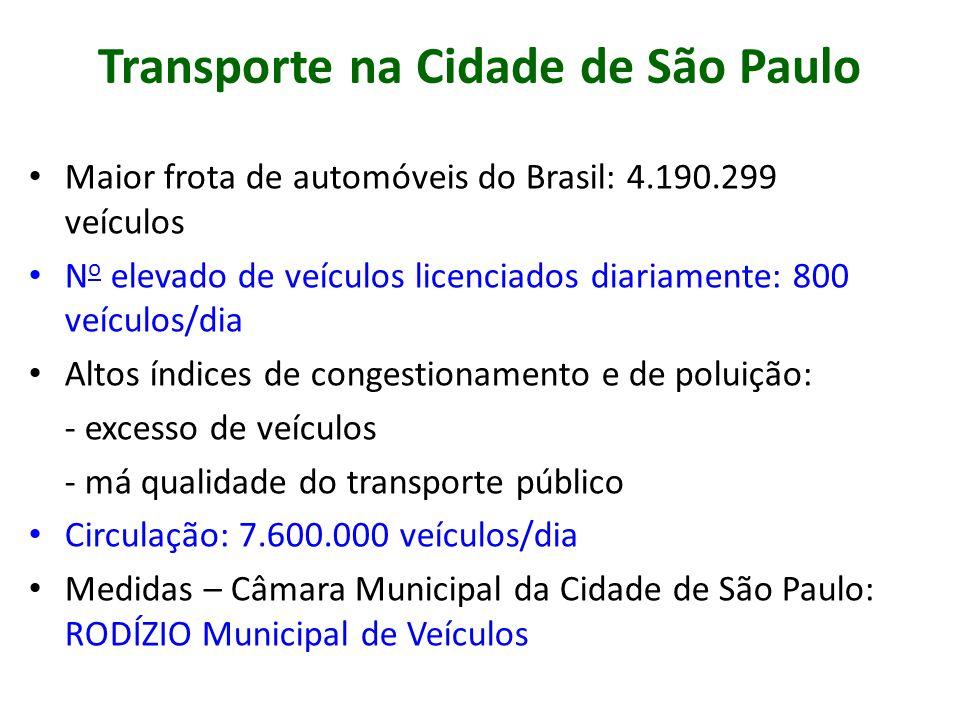 Transporte na Cidade de São Paulo