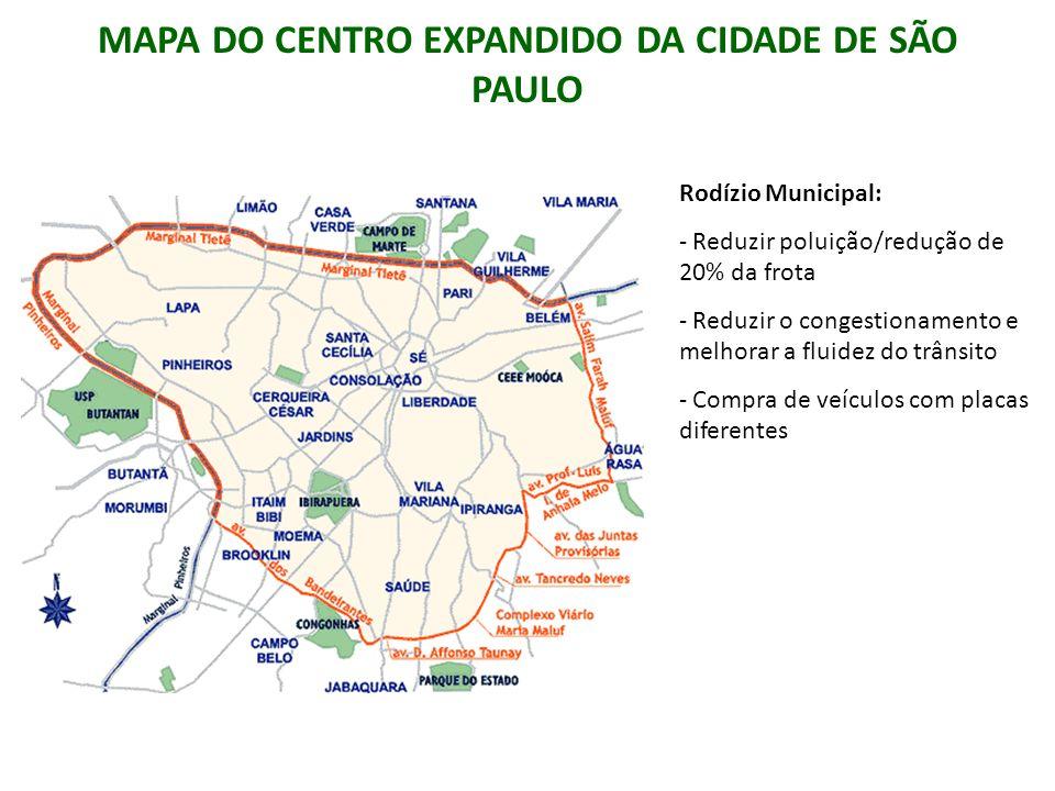 MAPA DO CENTRO EXPANDIDO DA CIDADE DE SÃO PAULO