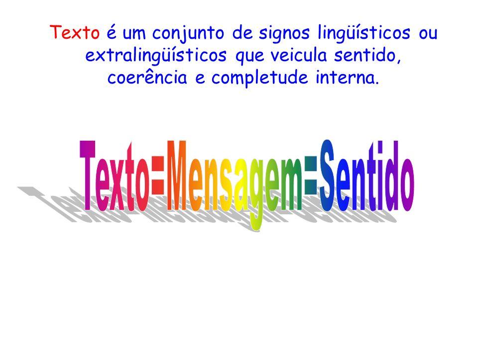 Texto=Mensagem=Sentido