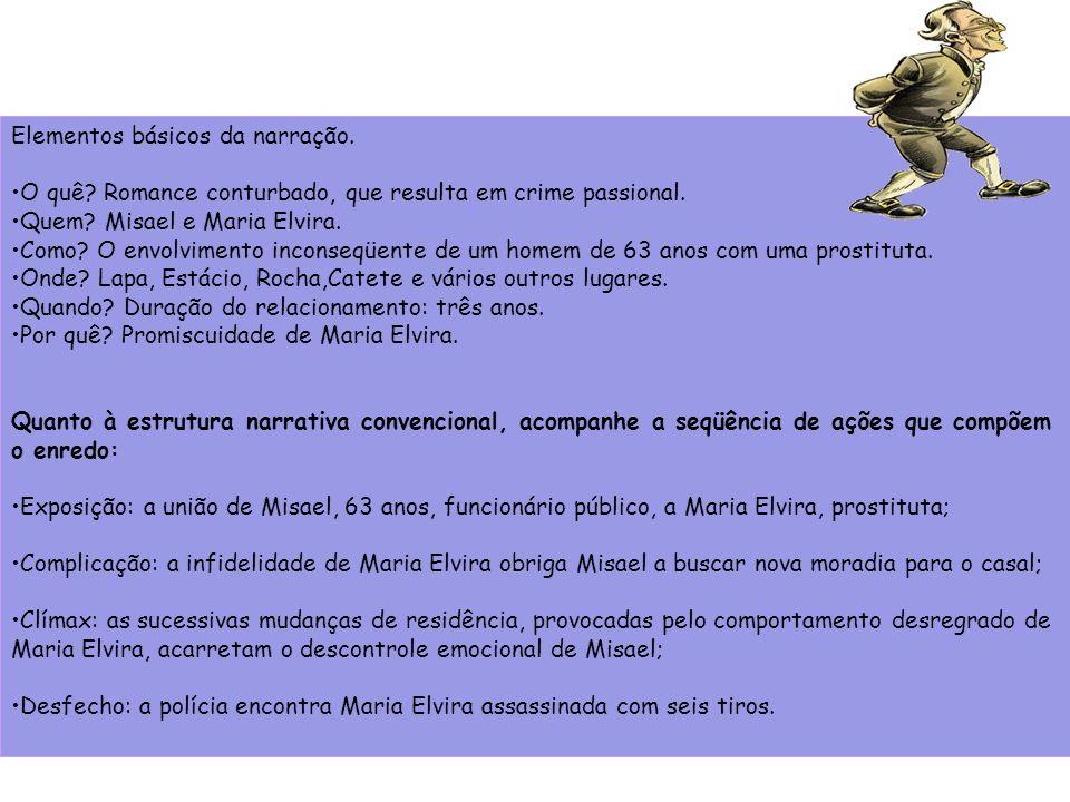Elementos básicos da narração.