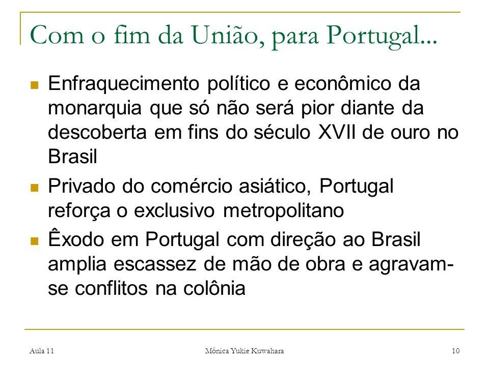 Com o fim da União, para Portugal...