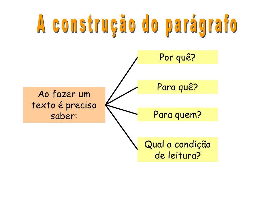 A construção do parágrafo