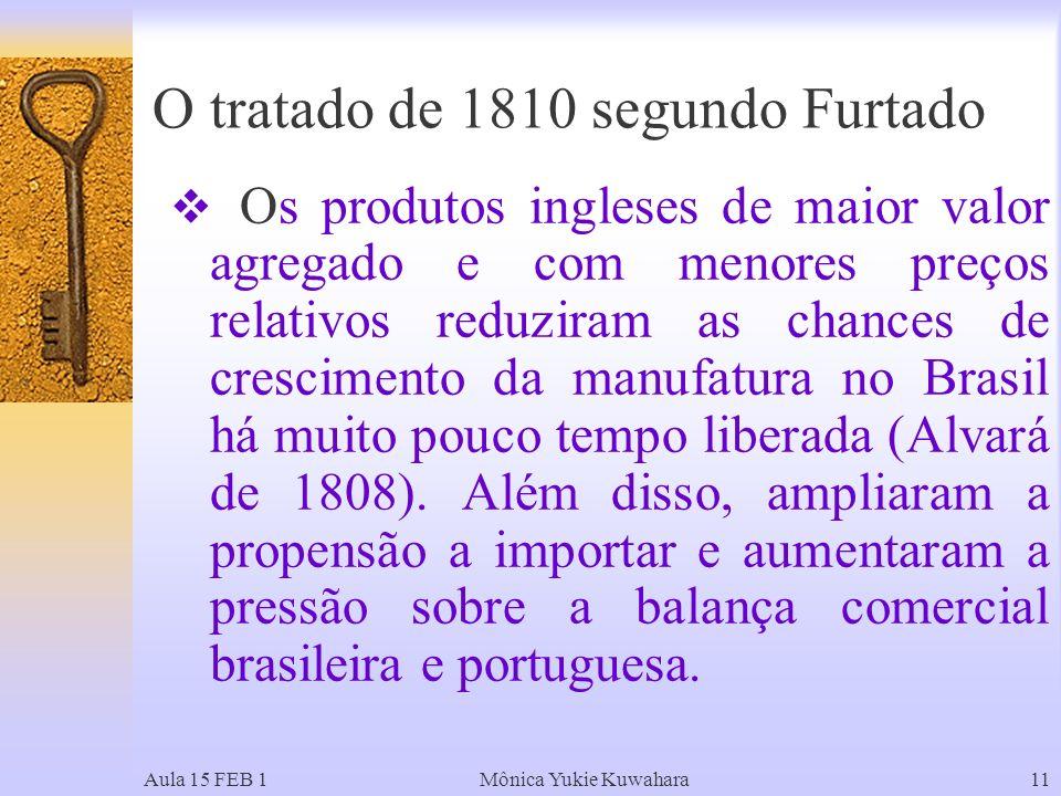 O tratado de 1810 segundo Furtado