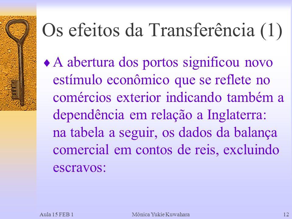 Os efeitos da Transferência (1)