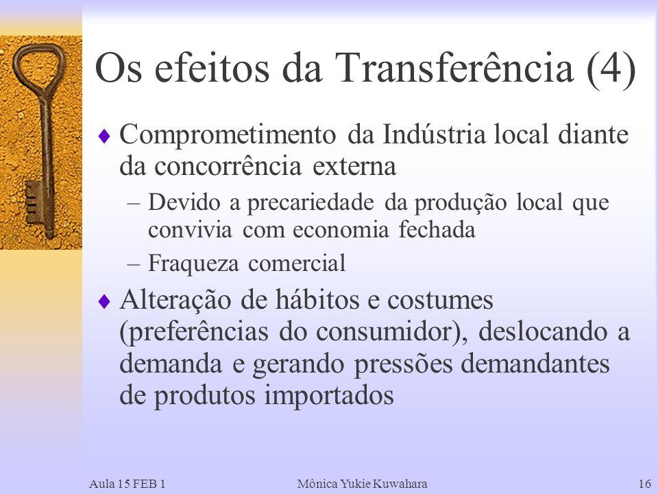 Os efeitos da Transferência (4)