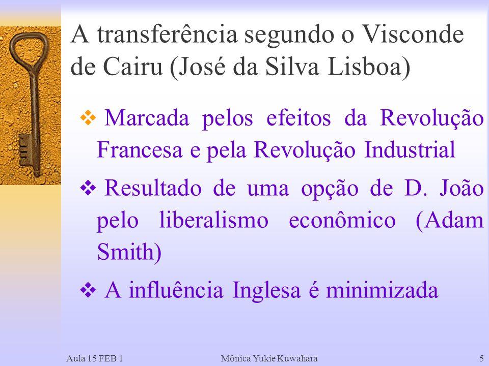 A transferência segundo o Visconde de Cairu (José da Silva Lisboa)