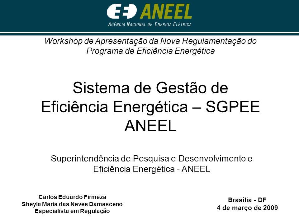 Sistema de Gestão de Eficiência Energética – SGPEE ANEEL
