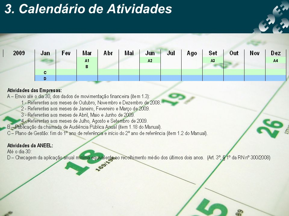 3. Calendário de Atividades