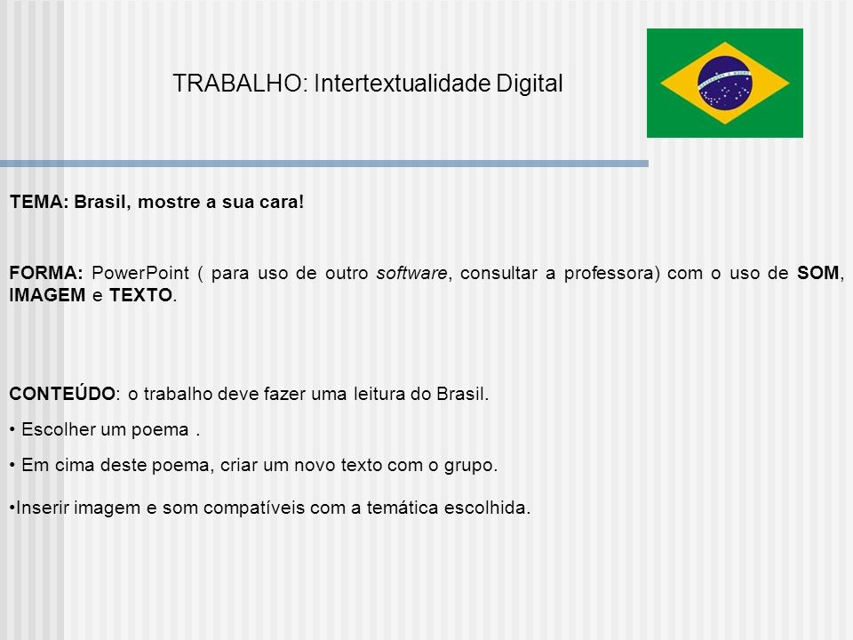 TRABALHO: Intertextualidade Digital