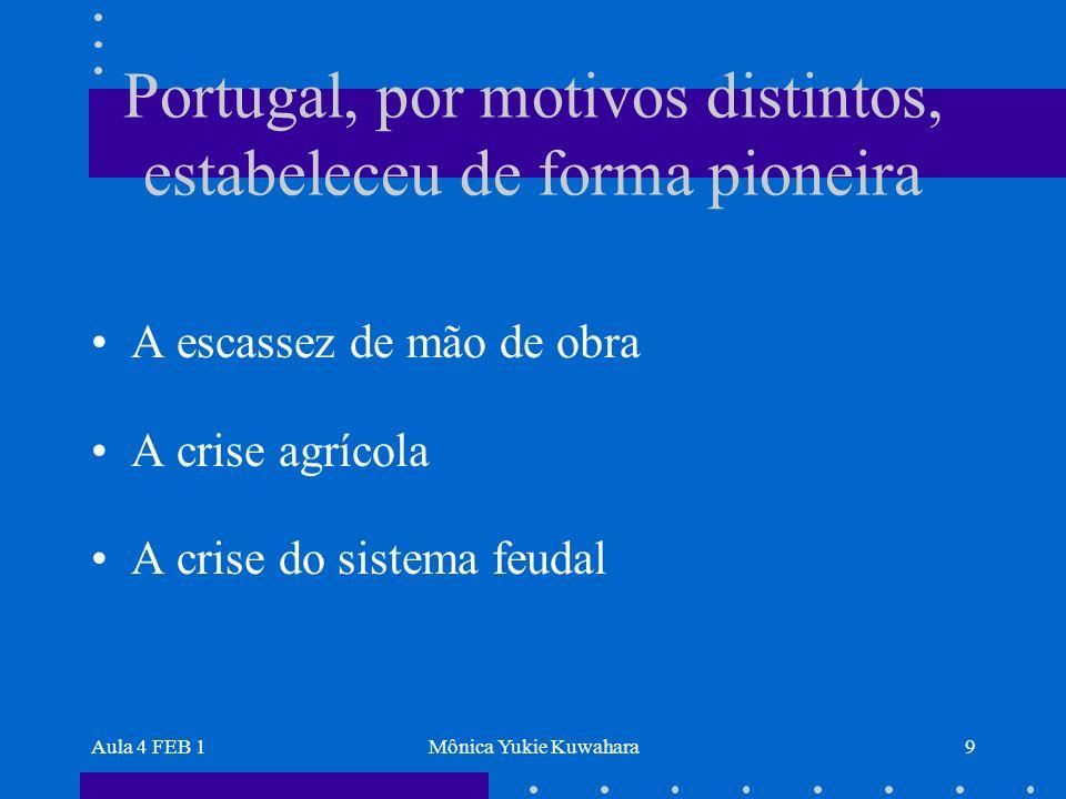 Portugal, por motivos distintos, estabeleceu de forma pioneira