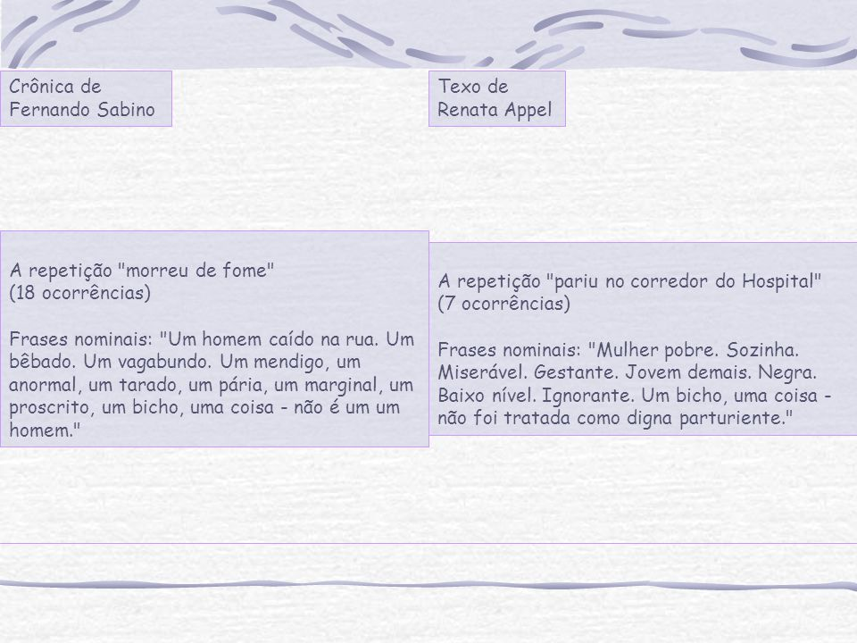 Crônica de Fernando Sabino