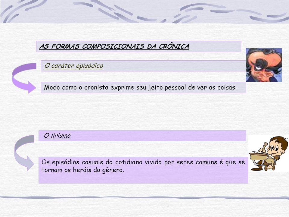 AS FORMAS COMPOSICIONAIS DA CRÔNICA