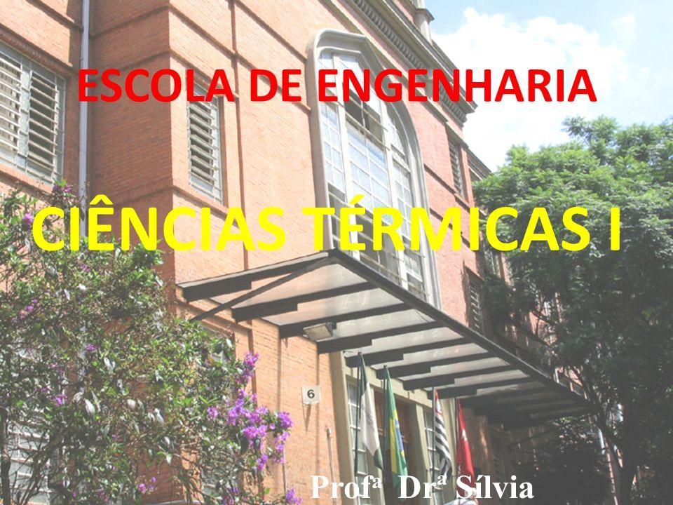 ESCOLA DE ENGENHARIA CIÊNCIAS TÉRMICAS I Profa Drª Sílvia Velázquez