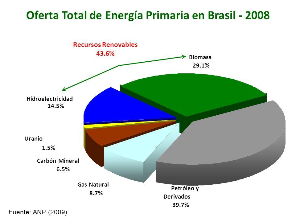 Oferta Total de Energía Primaria en Brasil - 2008