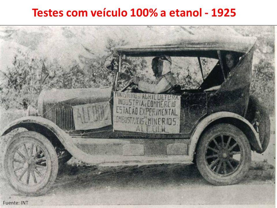 Testes com veículo 100% a etanol - 1925