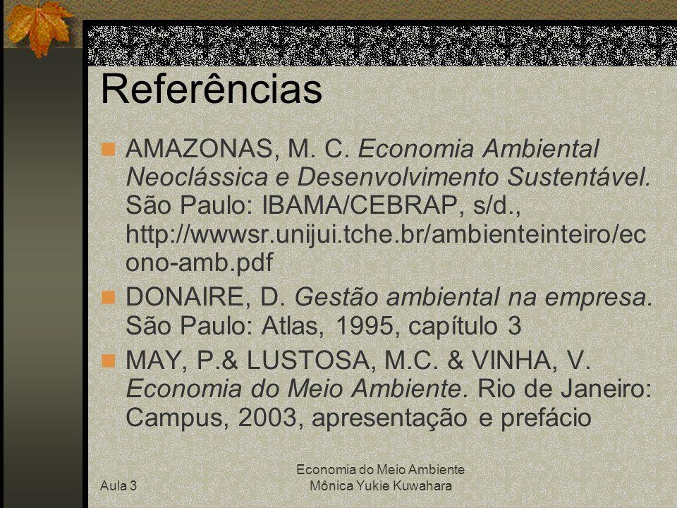 Aula 3. Diferentes escolas de economia do meio ambiente