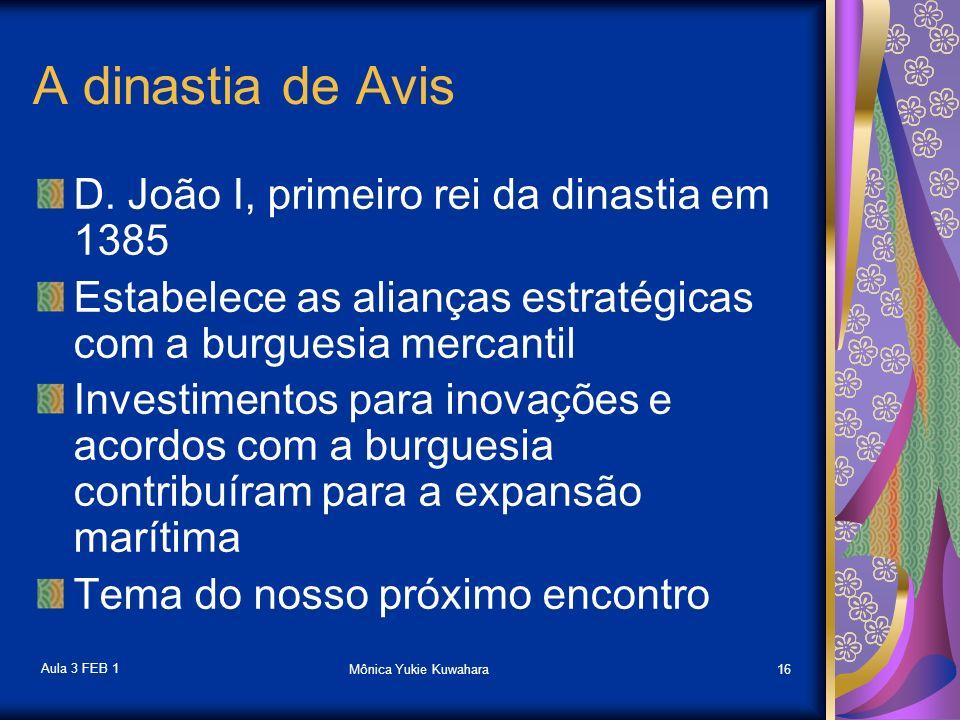 A dinastia de Avis D. João I, primeiro rei da dinastia em 1385