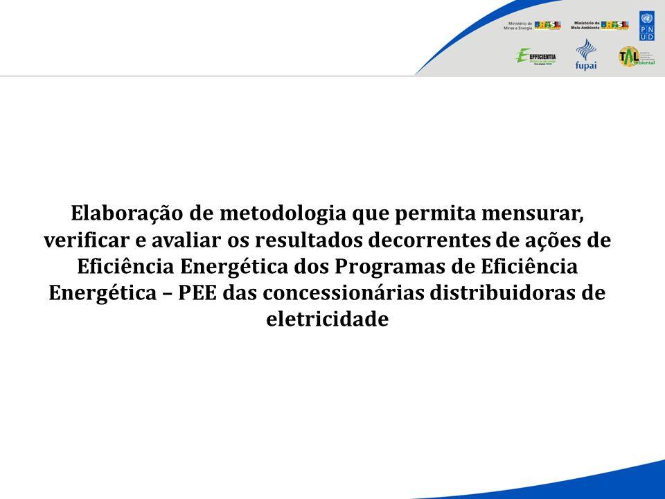 Elaboração de metodologia que permita mensurar, verificar e avaliar os resultados decorrentes de ações de Eficiência Energética dos Programas de Eficiência Energética – PEE das concessionárias distribuidoras de eletricidade
