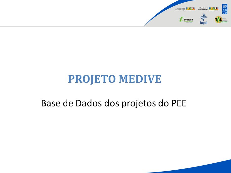 Base de Dados dos projetos do PEE