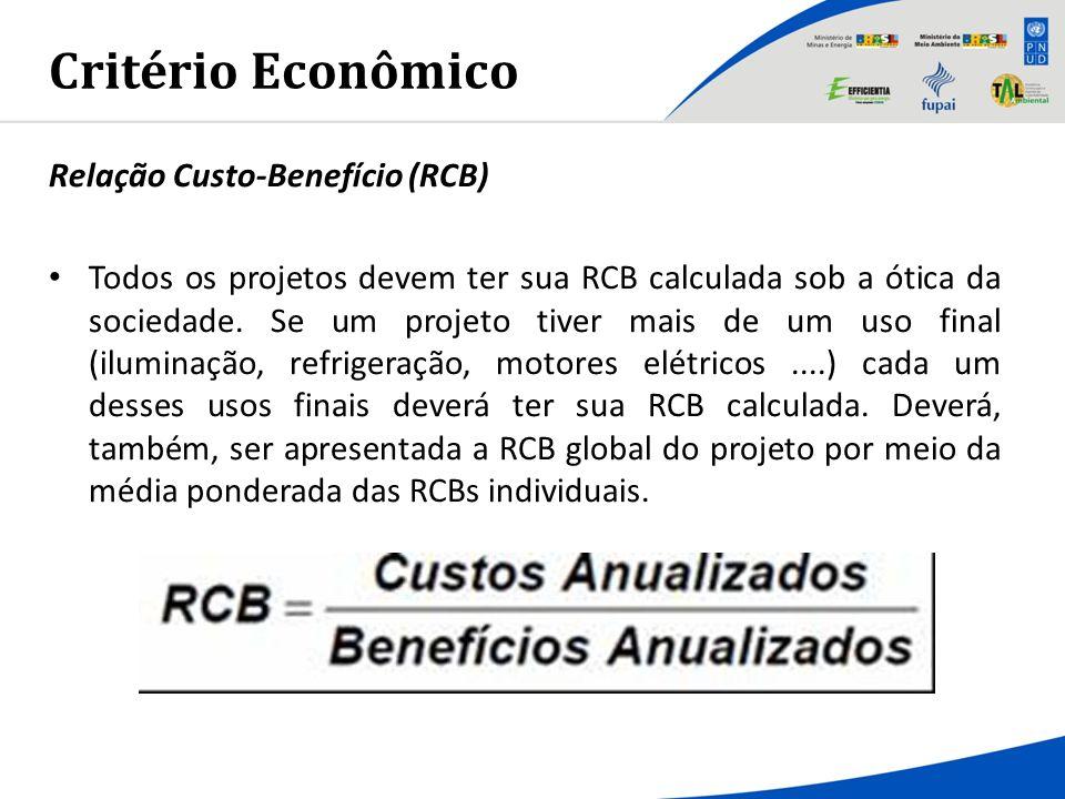 Critério Econômico Relação Custo-Benefício (RCB)