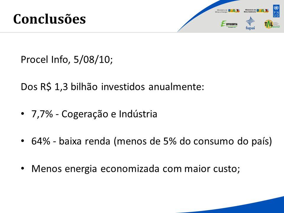 Conclusões Procel Info, 5/08/10;