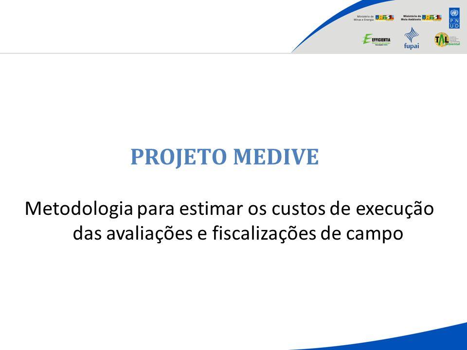 PROJETO MEDIVE Metodologia para estimar os custos de execução das avaliações e fiscalizações de campo.