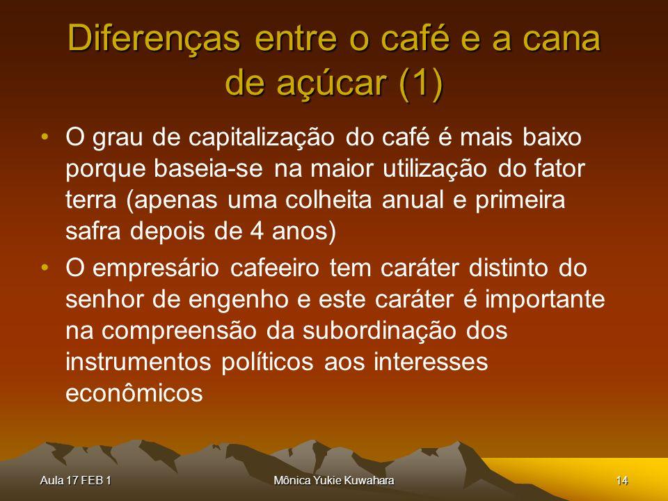Diferenças entre o café e a cana de açúcar (1)