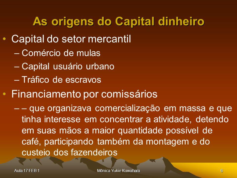 As origens do Capital dinheiro