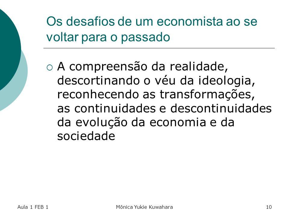 Os desafios de um economista ao se voltar para o passado