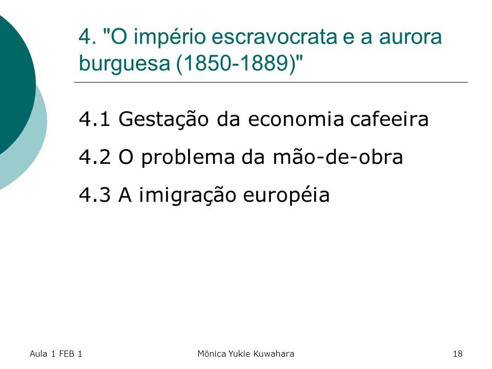 4. O império escravocrata e a aurora burguesa (1850-1889)
