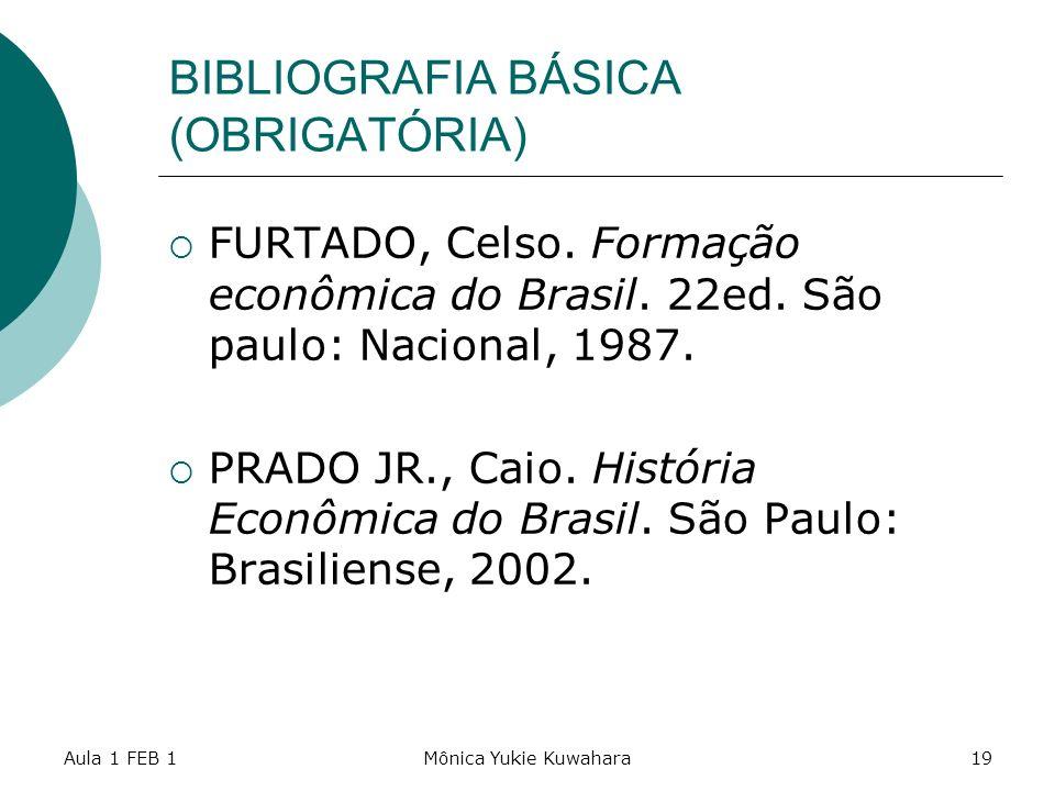 BIBLIOGRAFIA BÁSICA (OBRIGATÓRIA)