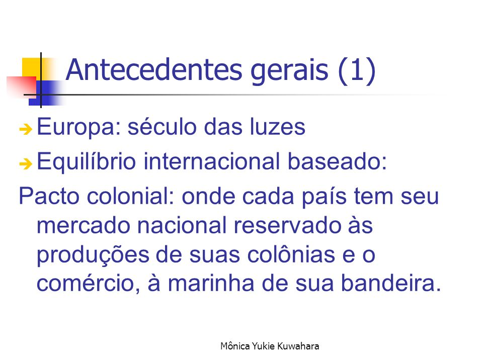 Antecedentes gerais (1)