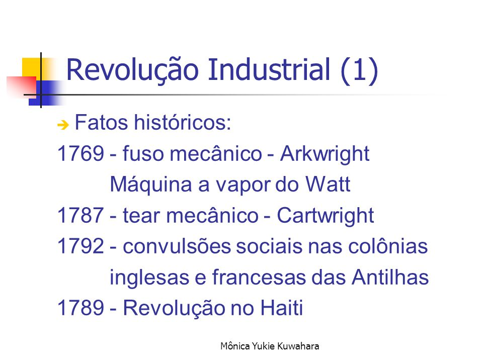 Revolução Industrial (1)