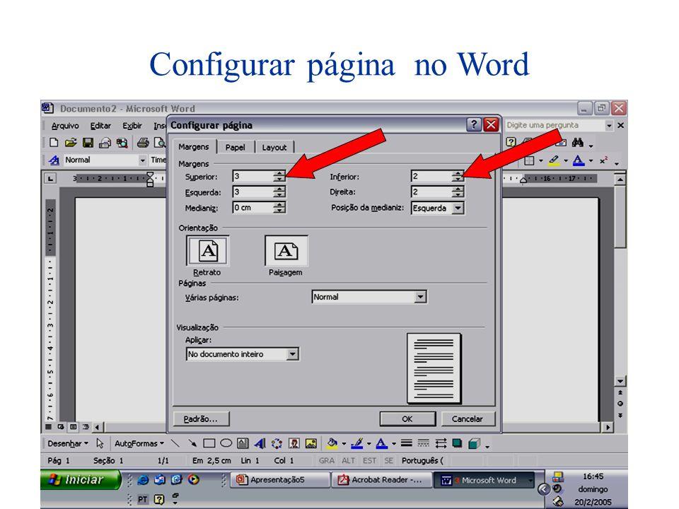 Configurar página no Word