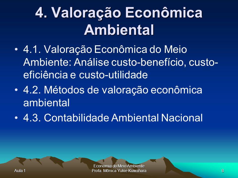 4. Valoração Econômica Ambiental