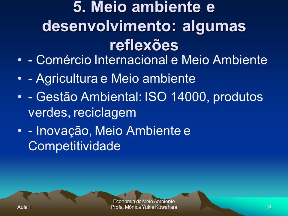 5. Meio ambiente e desenvolvimento: algumas reflexões