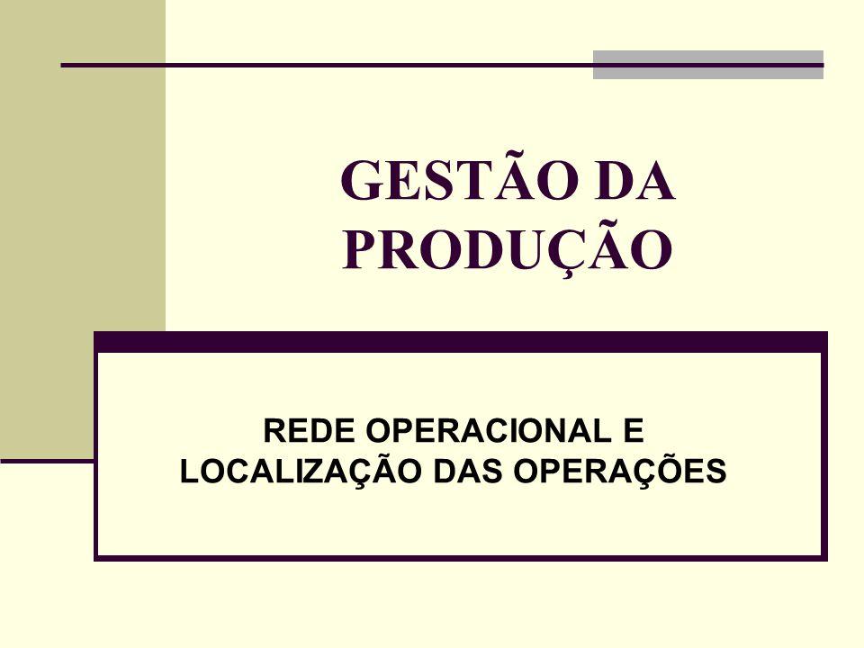 REDE OPERACIONAL E LOCALIZAÇÃO DAS OPERAÇÕES